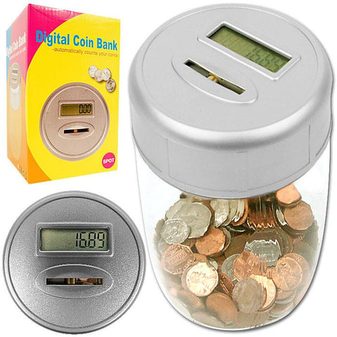 Trademark Commerce 82-19815 Ultimate Automatic Digital Coin Counting Bank - Peazz.com