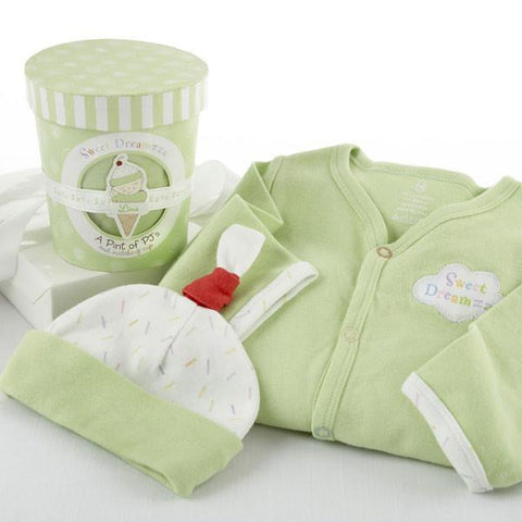 """Sweet Dreamzzz"" A Pint of PJ's Sleep-Time Gift Set, Lime - Peazz.com"