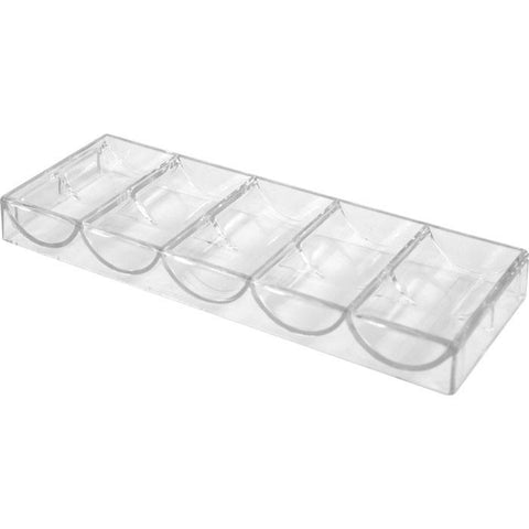 Trademark Poker 10-5030N Trademark Pokert Clear Acrylic Chip Tray - Non-Stackable - Peazz.com