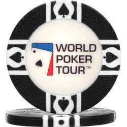 World Poker Tour 10-Wp-Black World Poker Tourt 11.5G Black Clay-Filled Poker Chip - Peazz.com