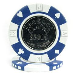 Trademark Poker 10-Coin 12.2 Gram Clay Coin Inlay Jackpot Casino Chips - Peazz.com