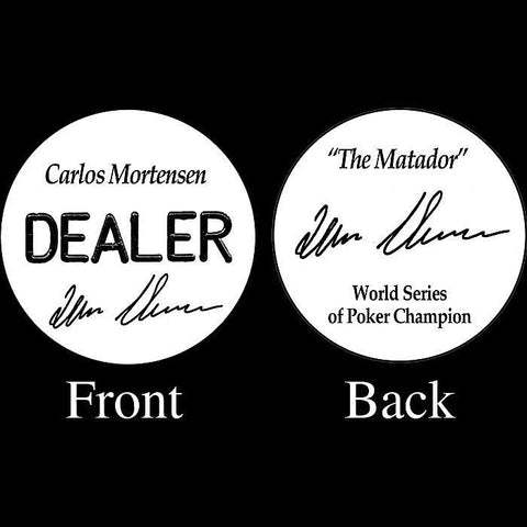 Trademark Poker 16-Cm5500 Carlos Mortensen Professional Collector'S Dealer Button - Peazz.com