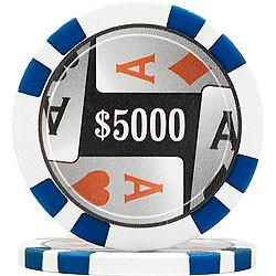 Trademark Poker 10-0900Hd High Denomination 4 Aces Poker Chips - Closeout - Peazz.com