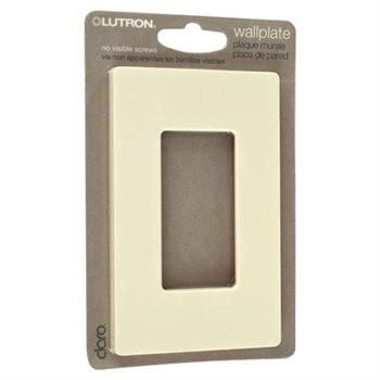 Lutron Cw-1-Al Lutron Claro Single Gang Rocker Wallplate Gloss - Almond - Peazz.com