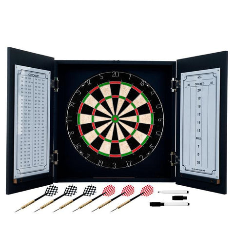 Trademark Games 15-Pv230 Tgt Black Laminate Dart Cabinet Set - Peazz.com