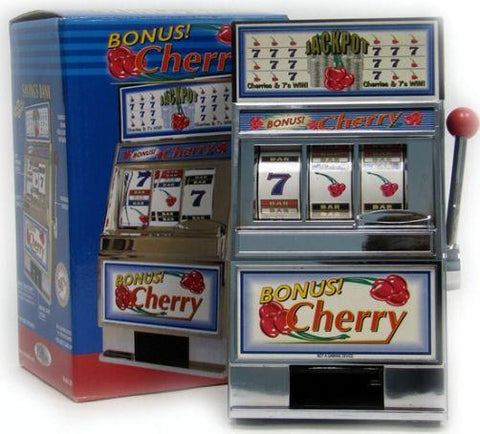 Trademark Games 10-41220 Cherry Bonus Slot Machine Bank W/ Spinning Reels - Peazz.com