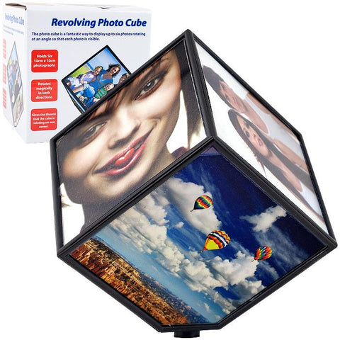 Trademark Commerce 72-122F Revolving Photo Cube - Magically Displays 6 Photos - Peazz.com