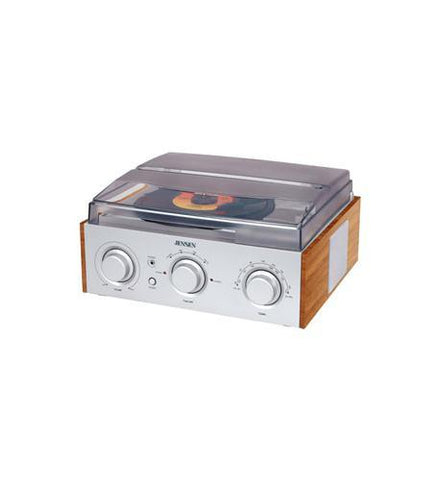 Spectra Merchandising JEN-JTA-220 3-Speed Stereo Turntable with AM/FM - Peazz.com