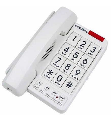 Northwestern Bell NWB-20600 MB2060-1 Big Button Phone White - Peazz.com