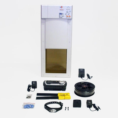 Humane Contain PX1-X10 Medium Power Pet Door Plus Electronic Fence - Peazz.com