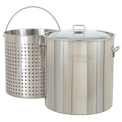Bayou Classic 122 Qt. Stockpot With Basket And Lid - Peazz.com