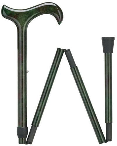 Harvy Ladie's Green Folding - Ultra Light Carbon Fiber Folding Cane - Peazz.com
