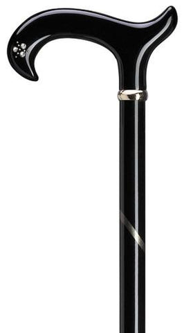 Harvy Ladie's Rhinestone Derby Plexi Handle Cane - Peazz.com