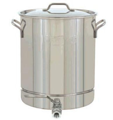 Bayou Classic 10 Gallon Stainless Steel Stockpot With Spigot - Peazz.com