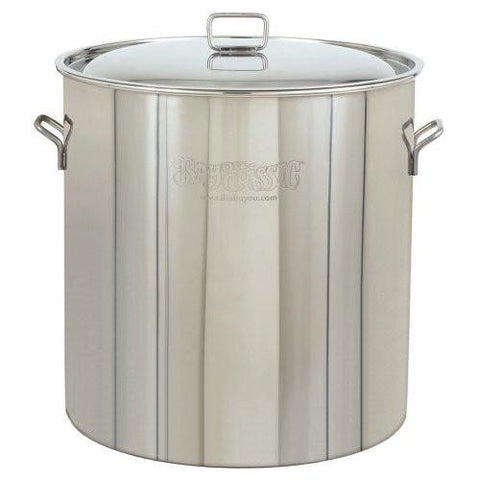 Bayou Classic Pots With Vented Lid 82 Quart Stainless Steel Stock Pot - Peazz.com