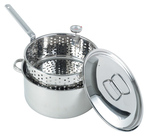 Bayou Classic 10 Quart Stainless Steel Fry Pot - Peazz.com