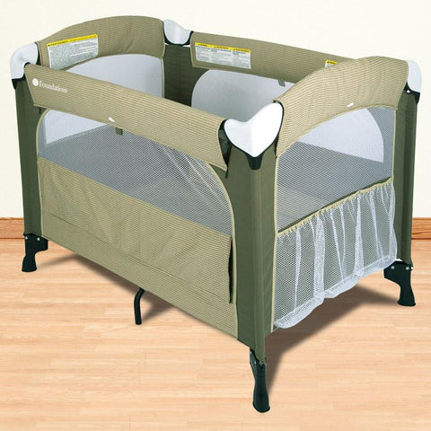 Foundations Elite™ Portable Crib - Cilantro - 1551117 - Peazz.com