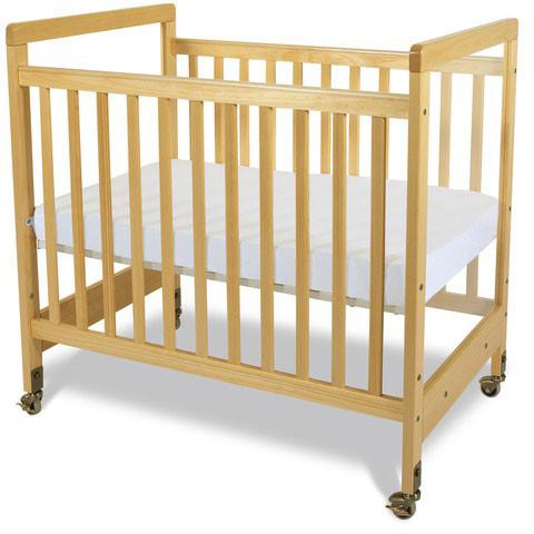 Foundations SafetyCraft Compact Fixed-Side,  w/ Adjustable Mattress Board, Clearview - Natural - 1632040 - Peazz.com