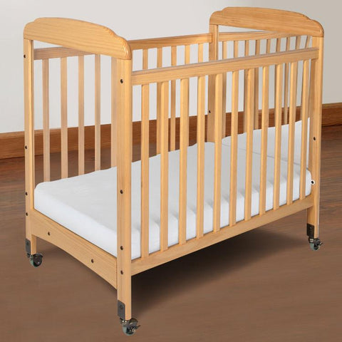 Foundations Serenity Compact Fixed-Side w/ Adjustable Mattress Board, Mirror - Natural - 1733040 - Peazz.com