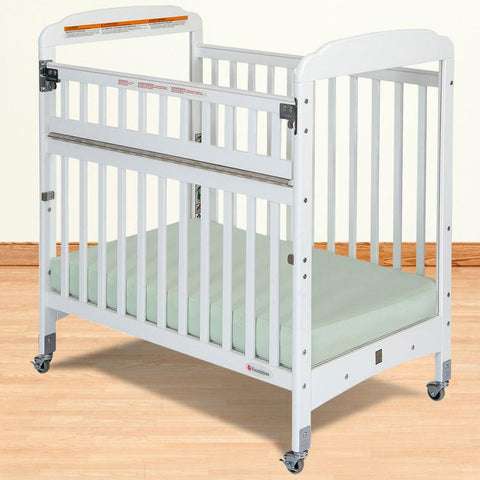 Foundations Serenity Compact SafeReach™ w/ Adjustable Mattress Board, Clearview - White - 1742120 - Peazz.com