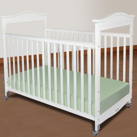 Foundations Biltmore Compact Fixed-Side w/ Adjustable Mattress Board, Clearview - White - 1832120 - Peazz.com