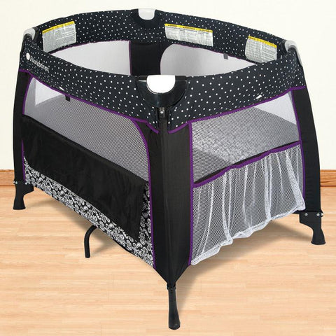 Foundations Boutique™ Portable Crib - Damask - 2152137 - Peazz.com