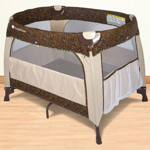 Foundations Boutique™ Portable Crib - Mystic - 2152147 - Peazz.com