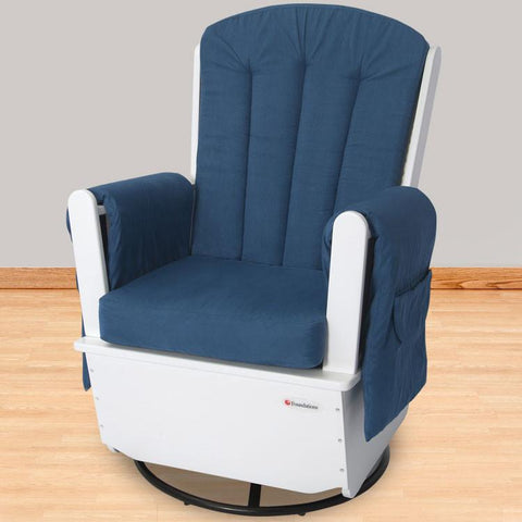 Foundations SafeRocker SS™ Standard Glider - White/Blue - 4302126 - Peazz.com