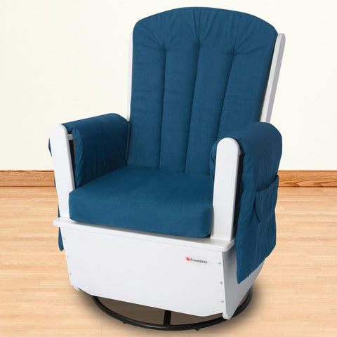 Foundations SafeRocker SS™ Swivel Glider - White/Blue - 4303126 - Peazz.com