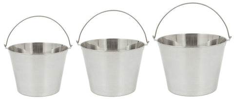 Bayou Classic Three-Piece Stainless Steel Beverage Bucket Set - Peazz.com