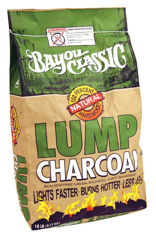 Bayou Classic Natural Lump Charcoal - 18 Pound Bag - Peazz.com