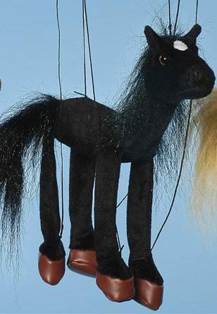 "16"" Black Horse Marionette Small - Peazz.com"