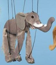 "16"" Elephant Marionette Small - Peazz.com"