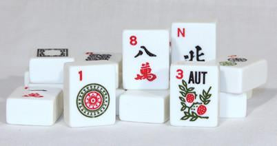 166W White Mah Jongg Tiles - Peazz.com
