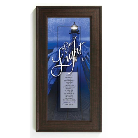 James Lawrence 3057 Our Light--The Lord Is Framed Wall Art - Peazz.com