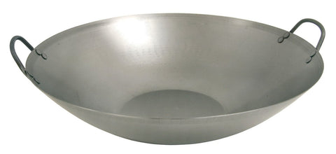 Bayou Classic Carbon Steel Flat Bottom Wok - Peazz.com