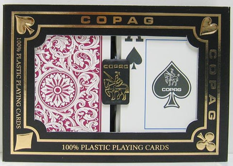 Copag 1546 Playing Cards Green/Burgundy Poker Size Jumbo Index - Peazz.com