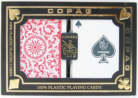 Copag 1546 Playing Cards Red/Blue Poker Size Regular Index - Peazz.com