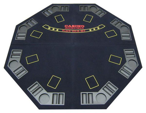 Blue 4-Fold Octagon Poker/Blackjack Table Top - Peazz.com