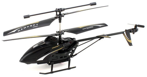JP Commerce LT-712-BLACK 3.5ch Hawkspy LT-712 RC Helicopter with Gyro and Camera - Black - Peazz.com