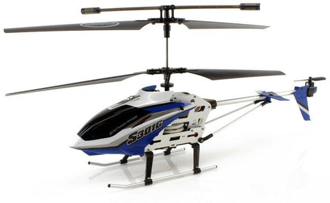 JP Commerce S301G-BLUE 3.5ch Syma S301G Large Size RC Helicopter with Gyro - Blue - Peazz.com