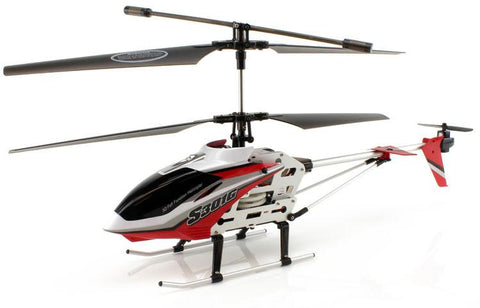 JP Commerce S301G-RED 3.5ch Syma S301G Large Size RC Helicopter with Gyro - Red - Peazz.com