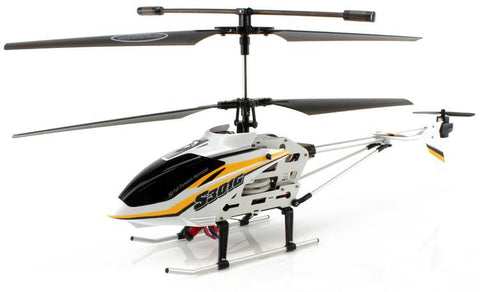 JP Commerce S301G-YELLOW 3.5ch Syma S301G Large Size RC Helicopter with Gyro - Yellow - Peazz.com