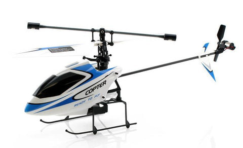 JP Commerce V911-BLUE 2.4Ghz 4ch WL V911 Single Rotor Fixed Pitch Mini RC Helicopter - Blue - Peazz.com