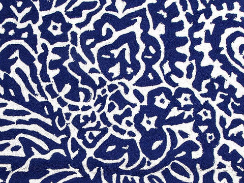 Jaipur Rugs RUG100200 Indoor-Outdoor Abstract Pattern Polypropylene Blue/Ivory Area Rug ( 9x12 ) - Peazz.com
