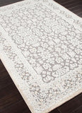 Jaipur Rugs RUG101568 Machine Made Oriental Pattern Art Silk/ Chenille Gray/Ivory Area Rug ( 9x12 ) - Peazz.com - 1