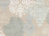 Jaipur Rugs RUG101610 Machine Made Floral Pattern Art Silk/ Chenille Ivory/Blue Area Rug ( 5x7.6 ) - Peazz.com - 2