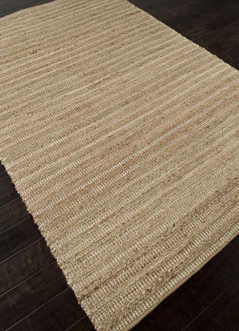 Jaipur Rugs RUG101990 Naturals Solid Pattern Cotton/ Jute Taupe/Ivory Area Rug ( 8x10 ) - Peazz.com - 1