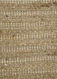 Jaipur Rugs RUG101990 Naturals Solid Pattern Cotton/ Jute Taupe/Ivory Area Rug ( 8x10 ) - Peazz.com - 2