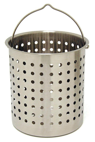 Bayou Classic Perforated Basket 24 Qt Stainless Steel - Peazz.com